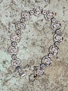 Tennis Bracelet Sterling Silver with Marcasite