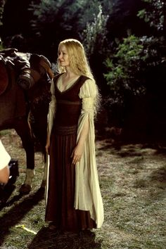 Mirando Otto as Eowyn of Rohan in 'The Lord of the Rings' trilogy (2001-2003).