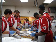 #Falcon Rookies feeding the hungry.