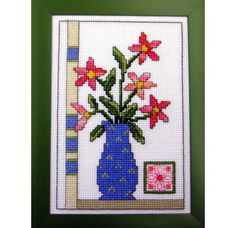 Floral Vase, from DMC USA.  Pattern uses DMC Color Variations Thread.