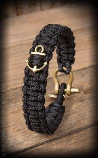 Dedicated O - Segeltau Armband - Schwarz mit Anker Dedicated O - Sailcloth Bracelet - Black with Anc Paracord Bracelets, Bracelets For Men, Handmade Bracelets, Handmade Jewelry, Parachute Cord Crafts, Diy Accessoires, Macrame Jewelry, Leather Craft, Jewelry Crafts
