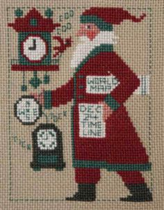 Santas keeping track of time in this years chart. With this purchase, you are getting an actual pattern -- not a PDF.