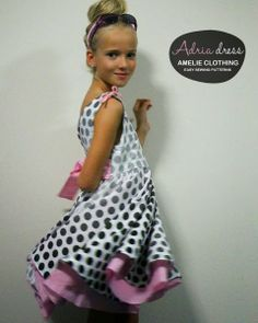 My daughter is going to looove this (and me, her mom, that will make it for her ; Circle Dress, Easy Sewing Patterns, Amelie, Little Girls, Daughter, Mom, Clothing, Dresses, Outfits