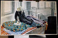 Kansallisgalleria - Taidekokoelmat - Leena kevätkuistilla Watercolours, Finland, Art Gallery, Portraits, Illustrations, Painting, Collection, Museum, Art Museum