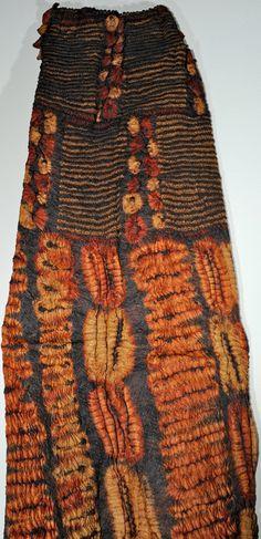 Africa | Dida skirt, Ivory Coast | Raffia, Tied Resist.