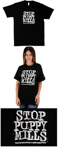 Stop Puppy Mills T-Shirt at The Animal Rescue Site