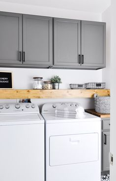 "Fantastic ""laundry room storage diy budget"" info is offered on our site. Check it out and you wont be sorry you did. Laundry Room Cabinets, Basement Laundry, Farmhouse Laundry Room, Small Laundry Rooms, Laundry Room Organization, Laundry Room Design, Diy Cabinets, Laundry Storage, Shelves For Laundry Room"