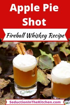 Are you looking for a Fall cocktail? The Apple Pie Shot is the perfect addition to have for fall drinks! This apple cider cocktail tastes just like apple pie. You are going to love this fireball whiskey recipe. | SeductionInTheKitchen.com #applecider #fireballwhiskey #fallcocktail Apple Cider Cocktail, Cider Cocktails, Fall Cocktails, Fall Drinks, Cocktail Drinks, Mixed Drinks, Fireball Drinks, Fireball Recipes, Fireball Whiskey
