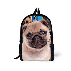 297101c8469d Brand Design Animal Backpack Pug Dog Poodle Printing School Backpack For Teenagers  Girls Bagpack Student Women