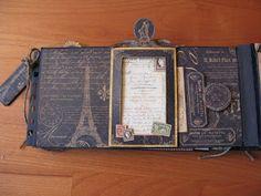 annes papercreations: Graphic 45 French country double mini album tutorial - frame
