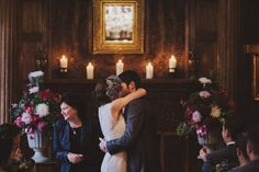Bride Jenni wears a Watters gown for her wedding at Ellingham Hall in Northumberland. Photography by Awake and Dreaming Weddings.
