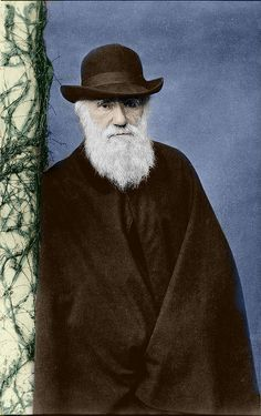 Charles Darwin - Love the contrast