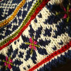Ravelry: Fritt etter Setesdal pattern by Sidsel J. Fair Isle Knitting Patterns, Knitting Charts, Knitting Stitches, Knit Patterns, Motif Fair Isle, Fair Isle Pattern, Big Knit Blanket, Jumbo Yarn, Pulls