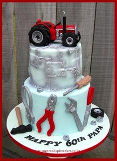 Tractor Mechanic - Cake by Mel_SugarandSpiceCakes