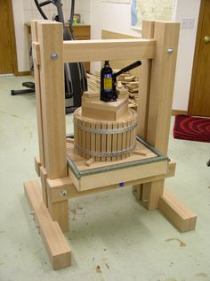 Home made Cider press.