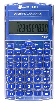 Avalon Scientific Calculator, Blue (Comparable to Texas Instruments Scientific Calculators) Trigonometric Functions, Marketing Flyers, Fractions, Problem Solving, Calculator, Algebra 1, Battery Operated, Math, Statistics