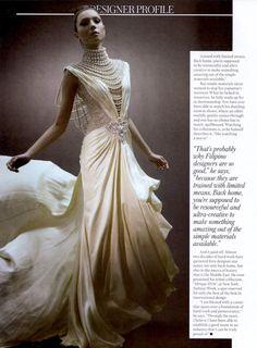 coco-lagerfeld:    Jasmine Maierhofer in Ezra Santos couture for Mega Magazine's Designer Profile (March 2012)