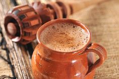 Mexican hot chocolate and molinillo