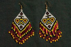0130 Thunderbird Earrings by WoodenIndianCrafts on Etsy