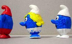 Muñecos hechos a mano a partir de nueces
