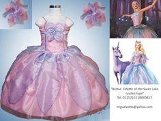 Barbie of Swan Lake Odette princess costume Disney Princess flower girl glitz pageant pink graduation quinceanera XV dress outfit dressup