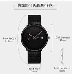 Ultra Thin Casual Style Watch Quartz Watch, Fashion Watches, Mens Fashion, Band, Luxury, Casual, Stuff To Buy, Accessories, Moda Masculina
