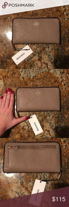 Brahmin Wallet/Card Holder Brand new, never used, Brahmin wallet/card holder, with tags. Has twelve card slots, ID slot, two money slips, inside and outside zip pockets. Beautiful, genuine leather. Brahmin Bags Wallets