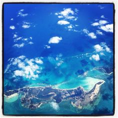 Bahamas from the plane