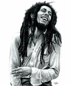 Pintura De Bob Marley