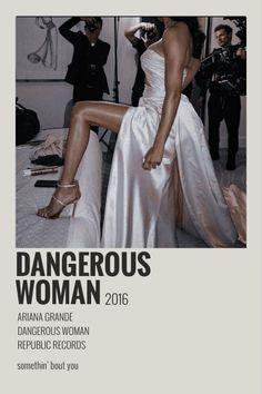 Ariana Grande Poster, Ariana Grande Lyrics, Ariana Grande Dangerous Woman, Strapless Dress Formal, Formal Dresses, Music Wall, Album Songs, Music Posters, Minimalist Poster