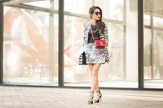 Mixing Patterns :: Zebra jacket & Floral skirt - Wendys Lookbook