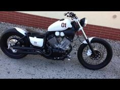 Yamaha Virago 535 Custom Bobber Chopper - YouTube