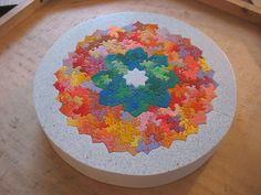Flower Mandala Puzzle by Chris Yates Studio - how it looks completed.