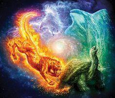 Elemental by dezygn on DeviantArt Mythical Creatures Art, Magical Creatures, Fantasy Creatures, Fantasy Wesen, Fantasy Beasts, Dark Fantasy Art, Fantasy Artwork, Dark Art, Cute Animal Drawings