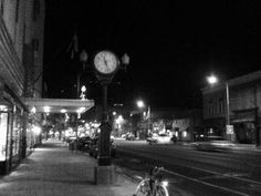"""Higgins Avenue at night; Downtown Missoula, MT. My home.  <3  This is the downtown I remember from my teen years when we would """"cruise"""" the drag!! :)"""