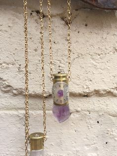 40 Caliber Amethyst Astral Bullet - Crystal Pendant Necklace - Pendulum Divination by LokaYogaCollective on Etsy https://www.etsy.com/uk/listing/385600014/40-caliber-amethyst-astral-bullet