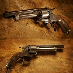 LeMat revolver, a Civil War Era pistol that featured a single shit 20 gauge shotgun barrel.