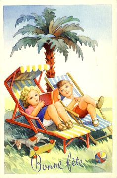 Vintage Summer Postcards | and a happy halloween here are a few vintage summery images i ll start ...