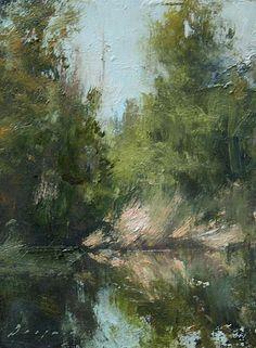 "Atwood Pond Study by Simon Addyman Oil ~ 8"" x 6"""