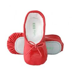 Baby Red Patent Leather Ballerina Shoes