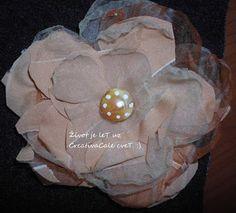 Unikatni cvetovi 2 / handmade mix fabric flowers