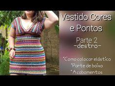 Moda Crochet, Crochet Diy, Crochet Diagram, Crochet Patterns, Sombrero A Crochet, Dress Tutorials, Crochet Videos, Crochet Clothes, Nice Dresses