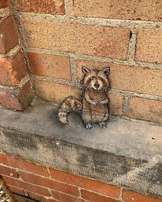 image - Chalk Art - David Zinn & Others - David Zinn, 3d Street Art, Street Art Graffiti, Graffiti Artists, Ann Arbor, Abstract Sculpture, Sculpture Art, Metal Sculptures, New York Graffiti