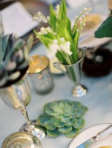 succulent lilly of the valley centerpieces wedding event elegant party