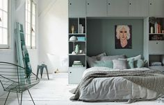 Three very dreamy bedrooms (Daily Dream Decor) Interior, Home, Loft Style Bedroom, Home Bedroom, Bedroom Interior, Bedroom Green, Bedroom Inspirations, Small Bedroom, Pastel Room