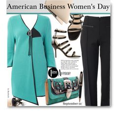 #American Business Women's Day by beebeely-look on Polyvore featuring Joseph Ribkoff, Christopher Kane, Montblanc, Tiffany & Co., WorkWear, classy and premiereavenue