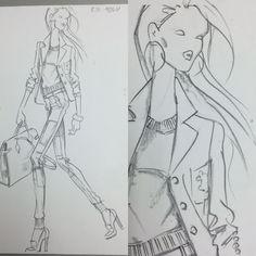 Design sketch for POLO Woman by Ralph Lauren Fall 2014 by Renaldo Barnette