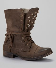 Take a look at this Brown Prima Studded Boot on zulily today!