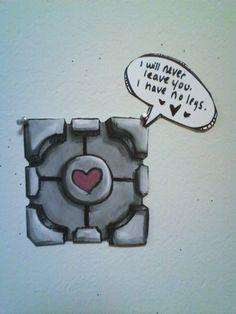 companion cube - ARTIST? Portal Wheatley, Companion Cube, Aperture Science, Portal 2, Video Game Cosplay, You Monster, Geek Girls, Skyrim, Nerdy