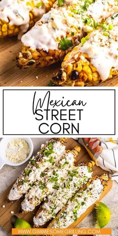 It's not summer with out this easy Mexican Street Corn, also known as Elotes, made right on your grill! Perfect charred corn on the cob topped with creamy sauce, Cotija Cheese and a dusting of chili powder. The perfect side dish for your next backyard party! via @gimmesomegrilling Easy Meals For Two, Easy Family Meals, Quick Easy Meals, Easy Snacks, Quick Dinner Recipes, Side Dish Recipes, Summer Recipes, Mexican Food Recipes, Mexican Dishes